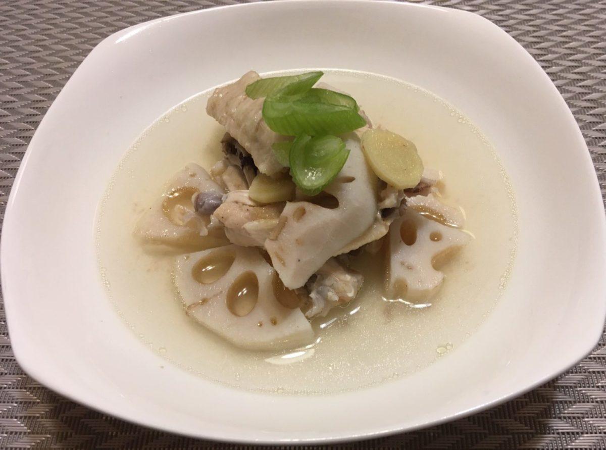 レンコンと鶏の中華スープ煮アイキャッチ