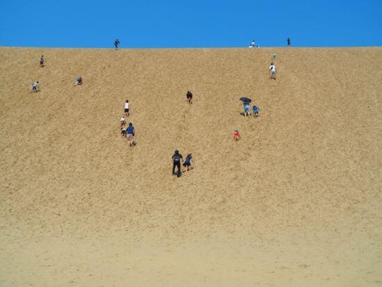 鳥取砂丘の馬の背