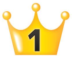 ランキング1位の王冠