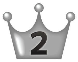 ランキング2位の王冠