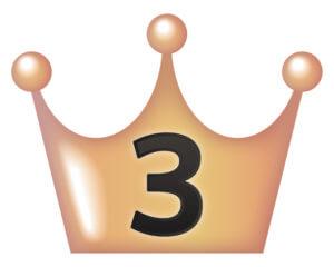 ランキング3位の王冠