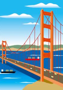 サンフランシスコイラスト画像