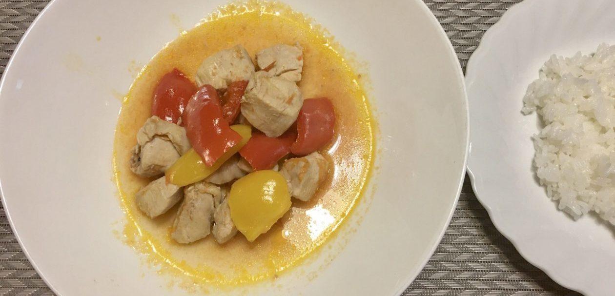 鶏モモ肉とパプリカアイキャッチ