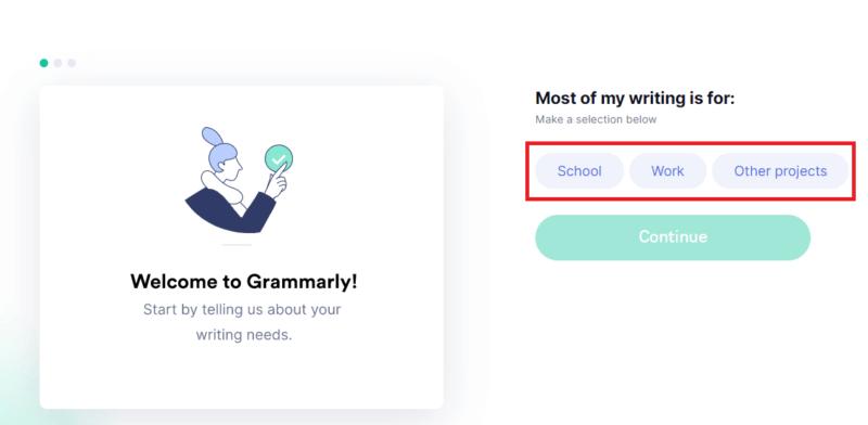 Grammarly-無料会員登録ページの画像