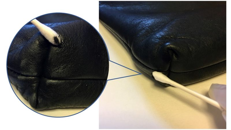 キタムラのショルダーバッグの補修中の画像