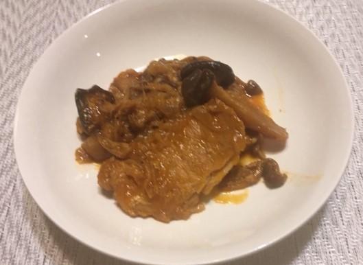 スペアリブ風豚ロース煮の完成した画像