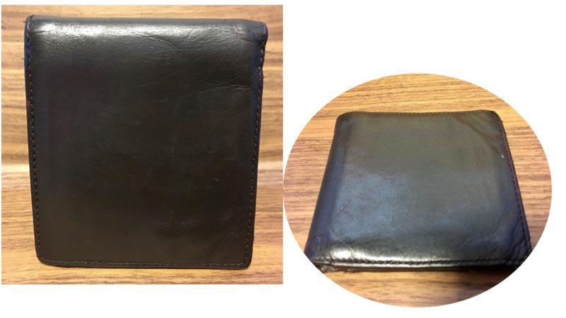 COACHの補修前の財布の外側の画像