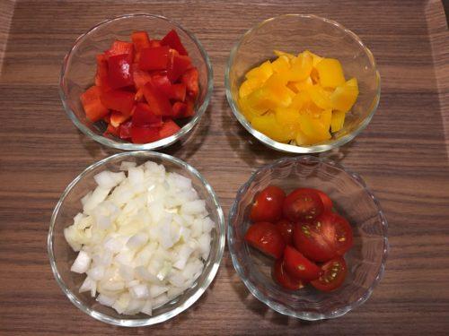 パエリア野菜カット
