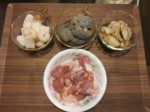 パエリア鶏肉と魚介