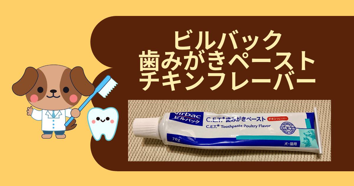 ビルバック・歯磨きペースト・チキンフレーバーのアイキャッチ画像