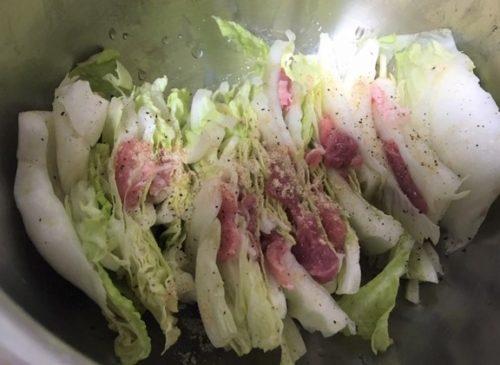 白菜豚鍋の中ミルフィーユ