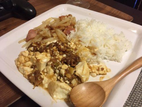 麻婆豆腐定食プレート