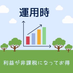iDeCo運用時のインフォグラフィック (利益が非課税になってお得)