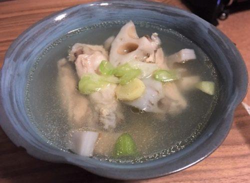 レンコンと鶏の中華スープ煮食卓2