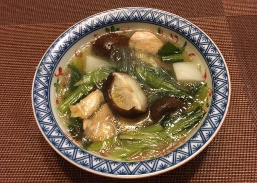 春雨スープ食卓