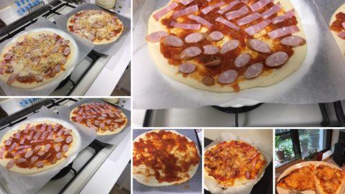 手作りピザの写真