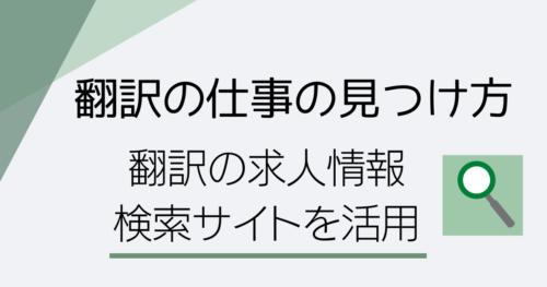 翻訳の仕事の見つけ方のイメージ画像