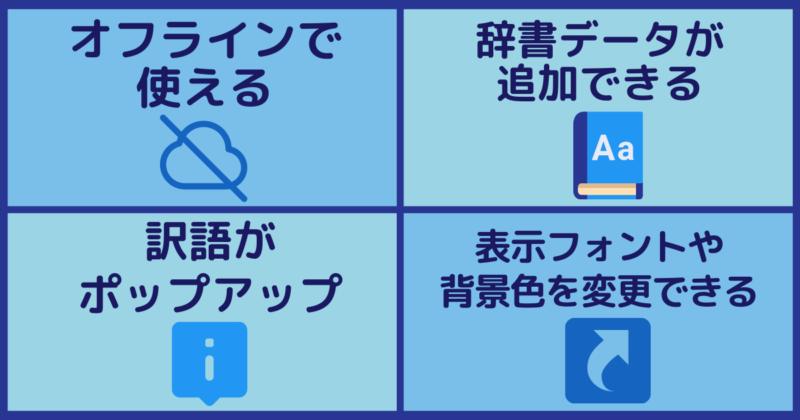 英辞郎インストール版の便利機能:インフォグラフィック