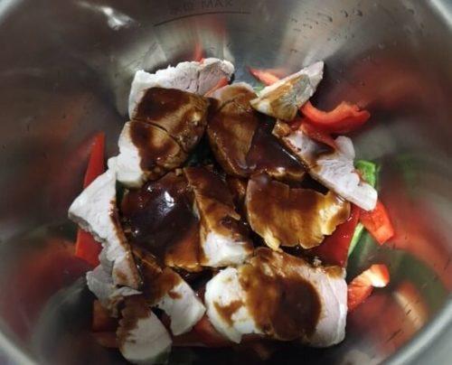 調理前鍋の中