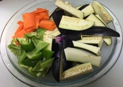 麻婆なす野菜