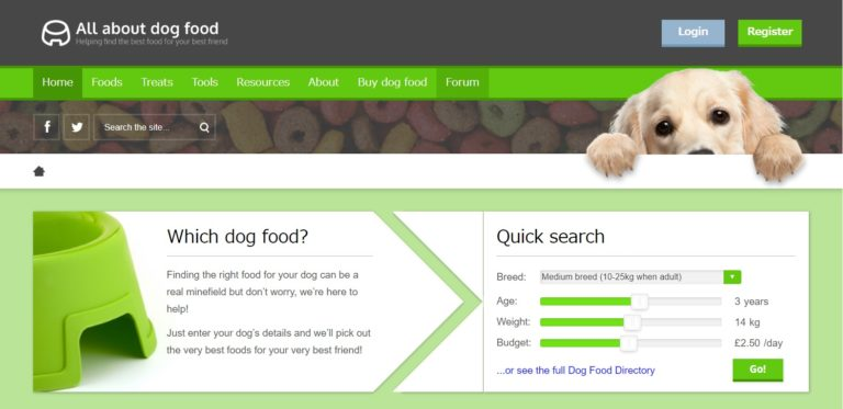 All-About-Dog-Food-top-page-view