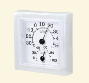 透明な元の湿度計の画像