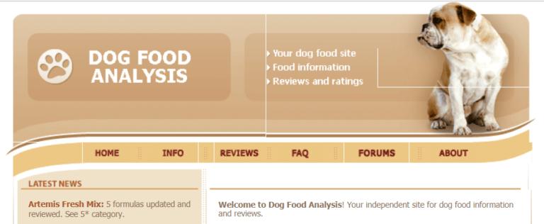 ドッグフードアナリシスのトページの画像