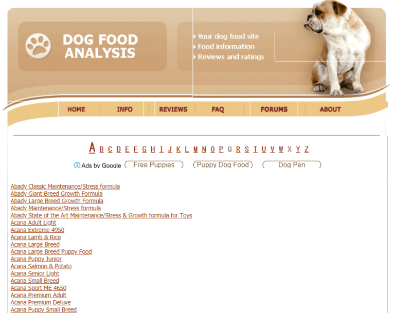 DogFoodAdvisor-review-ABC-order image