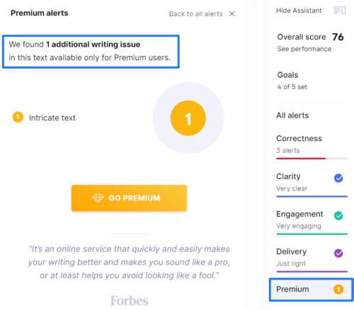 Premium Alert