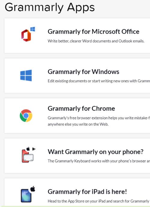 Grammarlyのアプリ・アドオンの紹介