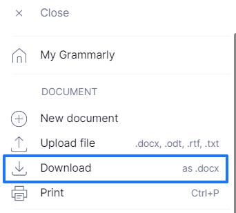 Grammarlyの文章を保存する