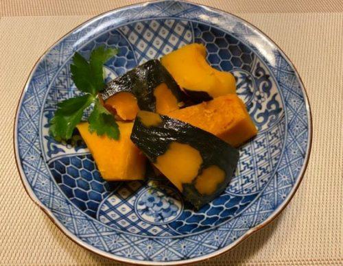 かぼちゃの煮物食卓