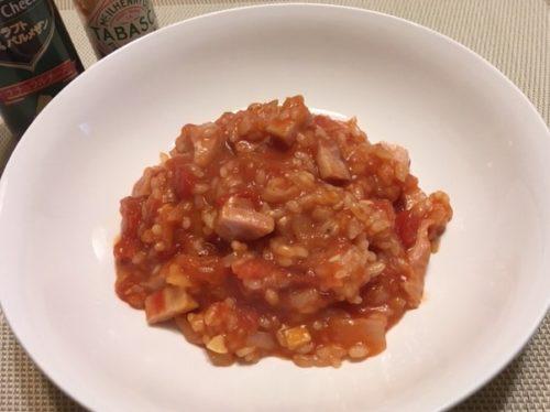 トマトリゾット食卓