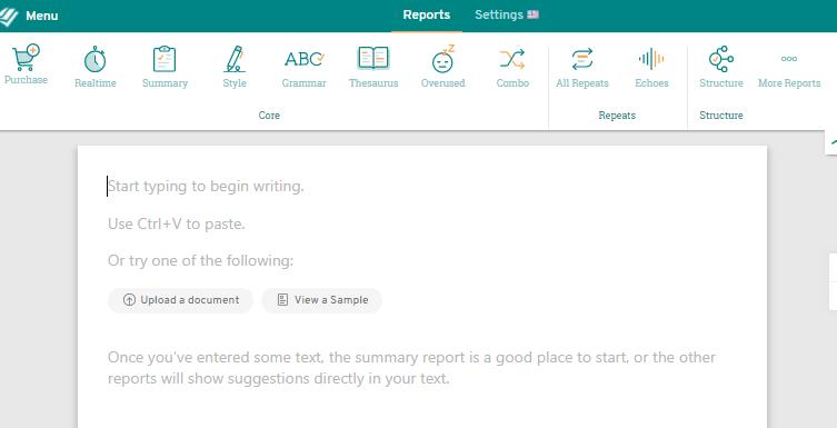 校正ツール・ProWritingAidの添削画面2