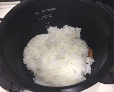 オムライス調理前鍋の中