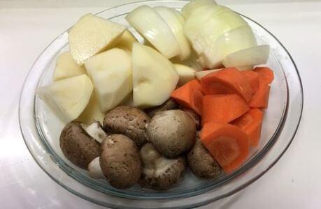ビーフシチューの野菜