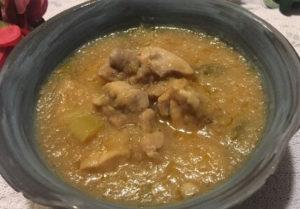 鶏と大根おろしのポン酢煮食卓2