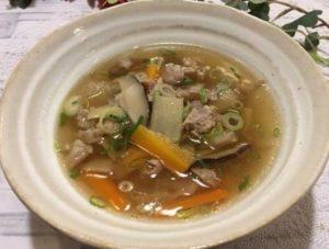しょうがのスープ食卓