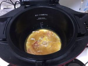 天津丼調理前鍋の中