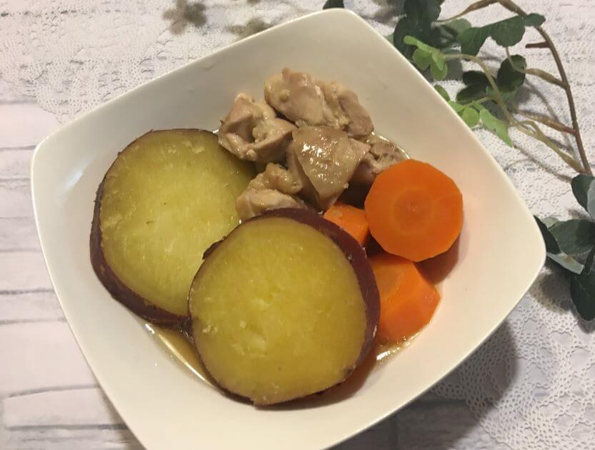 鶏とさつまいもの煮物アイキャッチ