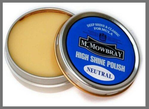 Mirror shine polish: M.MOWBRAY High Shine