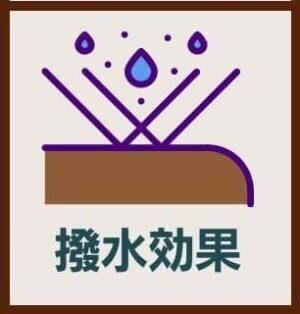 ラナパーの8つのおすすめポイント:撥水効果