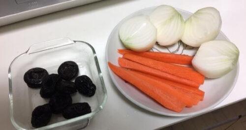 プルーンと野菜