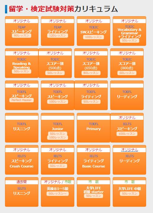 マイチューター留学検定試験カリキュラム24