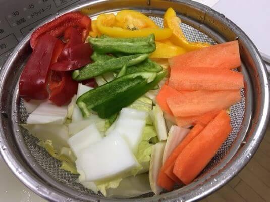 八宝菜の野菜