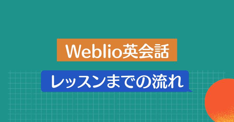 Weblio英会話・レッスンまでの流れ