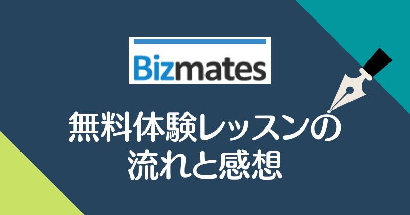 Bizmates・無料体験レッスンの流れと感想