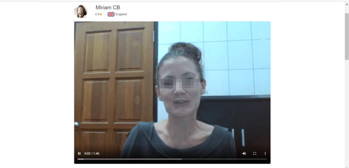 ㊸ミリアム先生のプロフィール欄の動画