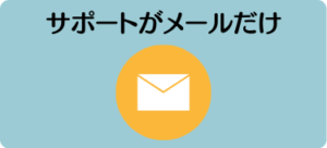エイゴックスデメリット⑤ サポートがメールだけ