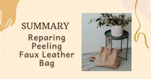 Summary_Reparing Peeling Faux Leather Bag Eyecatch image